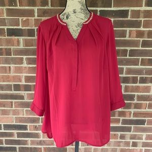 NWT Violet & Claire embellished blouse